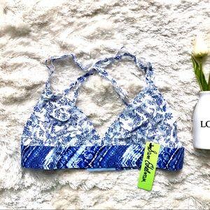 Sam Edelman Blue White Floral Bralette